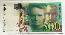 500 Francs Pierre Et Marie Curie 1995 SUP - 1992-2000 Laatste Reeks