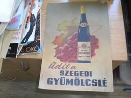 Old Poster Plakat  Udit A Szegedi Gyumolcsle Banhidi Lipcsei F K Patzauer Dezso Szeged Revai 24x25 Cm - Affiches