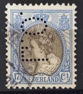 """Niederlande 1910, PERFIN """"L.O."""" Gestempelt - 1891-1948 (Wilhelmine)"""
