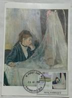 Carte Maximum Card Berthe Morisot  2010 Berceau   Mozambique ; Carte Musée  Braun - Arte