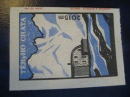 TERyHO Chata 2015m Mountains Climbing Poster Stamp Vignette CZECHOSLOVAKIA Label - Arrampicata