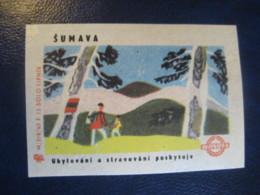 SUMAVA Mountains Climbing Poster Stamp Vignette CZECHOSLOVAKIA Label - Arrampicata