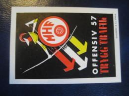MHF Offensiv 57 Trygg Trafik Archery Tir A L' Arc Poster Stamp Vignette SWEDEN Label - Boogschieten