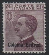 1928-29 Eritrea Michetti 20 C. Mlh - Eritrea