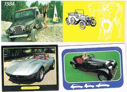 4 PETITS CALENDRIERS  AUTOS 1982 +1984 +1988 +1978 - Tamaño Pequeño : 1981-90