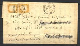 Regno D'Italia, 1862, Massa Marittima (GR) Per Portoferraio Su 2 X 10 C. IV Sardegna, 28-12-1862 - Marcophilia
