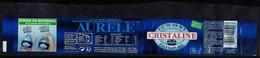 France Etiquette Eau De Source Aurele Bouchon Eco Responsable Cristaline - Autres