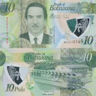 Botswana Pick-Nr: 35 Bankfrisch 2018 10 Pula - Botswana