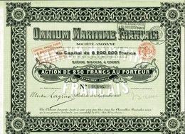 OMMNIUM MARITIME FRANCAIS - Navigation