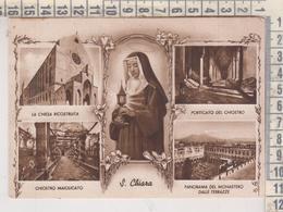 Santi Santa Chiara S. Chiara Napoli Chiesa E Monastero Vedute  VG  1955 - Santi