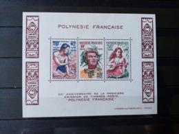 POLYNESIE. 1978. Bloc N° 4.  20éme Anniversaire De La Première émission. NEUFS++Côte 20 €. - Hojas Y Bloques