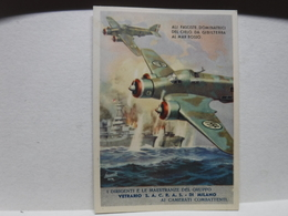 FRANCHIGIA   II  GUERRA  --   ILL. GINO BOCCASILE --- ALI FASCISTE  DOMINATRICI  - ECC.-- S.A.C.R.A.S. - War 1939-45