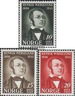 Norway 304-306 (complete Issue) Unmounted Mint / Never Hinged 1945 Henrik Wergeland - Norway