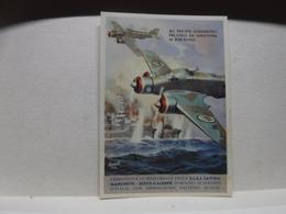 FRANCHIGIA   II  GUERRA  - ILL. GINO BOCCASILE -- ALI FASCISTE  DOMINATRICI  - Ecc..-- S.I.A.I. SAVOIA  -MARCHETTI - War 1939-45