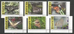 NIUAFO'OU - MNH - Animals - Insects - Butterflies - 2015 - 2016 - Papillons