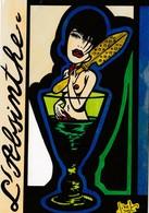CPM Femme Women Glamour Absinthe Alcool Style Art Nouveau Art Déco Tirage Limité JIHEL / LARDIE (2 Scans) - Other Illustrators