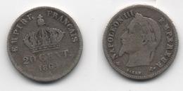 + FRANCE    + 20 CENTIMES 1864 A  + - E. 20 Céntimos