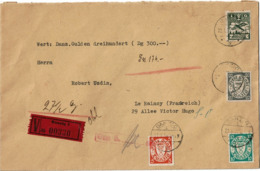 LPP13 - DANTZIG LETTRE RECOMMANDEE 22/1/1938 THEME JUDAICA - Dantzig