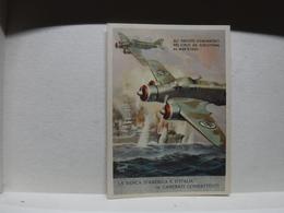 FRANCHIGIA   II  GUERRA  - ILL. GINO BOCCASILE -- ALI FASCISTE  DOMINATRICI Ecc..---- LA BANCA  D'AMERICA E D'ITALIA - War 1939-45