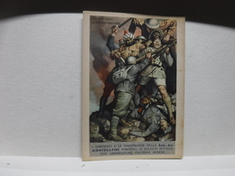 FRANCHIGIA   II  GUERRA  - ILL. GINO BOCCASILE -- DUE SONO CADUTI  Ecc..----  SOC. AN. MONTECATINI - War 1939-45