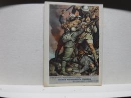 FRANCHIGIA   II  GUERRA  - ILL. GINO BOCCASILE -- DUE SONO CADUTI  Ecc..----  SOCIETA' METALLURGICA ITALIANA - War 1939-45