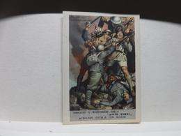 FRANCHIGIA   II  GUERRA  - ILL. GINO BOCCASILE -- DUE SONO CADUTI  Ecc..---- MOTO GUZZI - War 1939-45