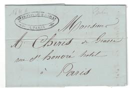 1846 - LETTRE LAC De PARIS Pour PARIS TRANSPORTÉE PAR PORTEUR - 1801-1848: Vorläufer XIX