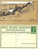 """ Infanterie De Montagne "" Entier Postal Illustré Neuf 1915. Zumstein Pr - GED 27  002 - Entiers Postaux"