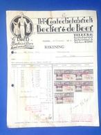 Becher & De Beer, N.V. Confectiefabriek, Nota, Tilburg, 1934 - Netherlands