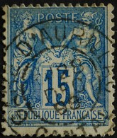 -Sage N°90 Type Ll.(CAD) O .GARE D'AURILLAC 28 DEC 1898. - 1876-1898 Sage (Type II)