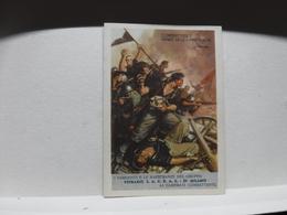FRANCHIGIA   II  GUERRA  - ILL. GINO BOCCASILE -- COMBATTERE VERBO DELLE  Ecc..----  VETRARIO S.A.C.R.A.S. -MILANO - War 1939-45