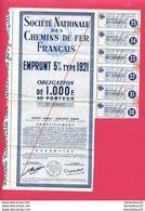 (Réf : D799)  VIEUX PAPIERS ACTIONS & TITRES - SOCIÉTÉ NATIONALE DES CHEMINS DE FER FRANÇAIS EMPRUNT 5% - Chemin De Fer & Tramway