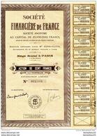 """ACTIONS ET TITRES (Réf : B 949) """"VIEUX PAPIERS """"  SOCIÉTÉ FINANCIÈRE DE FRANCE - Banque & Assurance"""