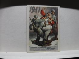 FRANCHIGIA   II  GUERRA  - ILL. GINO BOCCASILE --  1941  -- JOHN BULL- --  MOTO GUZZI - War 1939-45