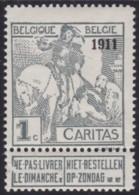 Belgie .   OBP .   92     .   * .    Ongebruikt Met Charnier.   /   .  Neuf Avec Charniere - 1910-1911 Caritas