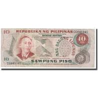 Billet, Philippines, 10 Piso, 1969, KM:144b, TB - Filipinas