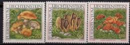 1997 Liechtenstein  Mi. 1152-4 **MNH  Seltene Pilze - Ongebruikt