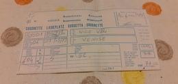 BIGLIETTO TRENO SUPPLEMENTO CUCCETTA DA NICE VILLE A VENICE 1989 - Treni