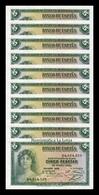 España Lot Bundle 10 Banknotes 5 Pesetas República 1935 Pick 85 Serie D SC UNC - [ 2] 1931-1936: Republik
