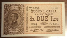 2 Lire Vitt. Em. III° Serie 084 1917 R2 Sup/fds  LOTTO 1463 - [ 1] …-1946 : Royaume