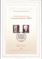 BRD FGR RFA - Europa: Jahr Der Musik (MiNr: 1248/9) 1985 - ETB 11/1985 - BRD