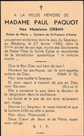 Bleyberg, 1960, Paul Paquot, Orban - Images Religieuses