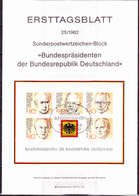 BRD FGR RFA - Grundgedanken Der Demokratie - Bundespräsidentenn (MiNr: Bl. 18) 1982 - ETB 25/1982 - BRD