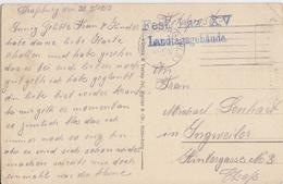 CP (Schlacht Bei Saarburg) En Franchise, Cachet Fest. Laz. XV Landtagsgebaude Obl. Strassburg Le 30/3/15 Pour Ingsweiler - Guerre De 1914-18