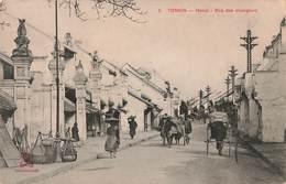 Viet Nam Tonkin Hanoi Rue Des Changeurs Cpa Carte Animée Indochine - Viêt-Nam
