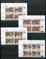 Bophuthatswana Mi# 198-201 Zylinderblocks Postfrisch/MNH Controls - Easter Stamps, The Lords Passion - Bophuthatswana