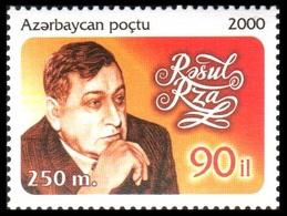 124 - Azerbaijan - 2000 - 90th Birth Anniversary Of Rasul Rza - 1v - Lemberg-Zp - Azerbaiján