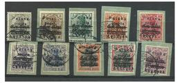 Poland 1919 LECZYCA  - Overprint Polska Poczta Used Set - ....-1919 Übergangsregierung