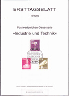 BRD FGR RFA - Dauerserie: Industrie Und Technik (MiNr: 1134, 1135, 1138) 1982 - ETB 12/1982 - BRD