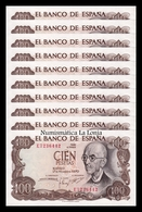España Lot Bundle 10 Banknotes 100 Pesetas M. Falla 1970 Pick 152 EBC XF - 100 Peseten